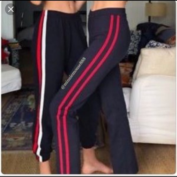 6c6054c4fc ... Blue Yoga Pants with Red Stripes. NWT. Brandy Melville.  M_5aab1c58caab44bbd6423bb2. M_5aab1c5b84b5ce06c91049e8